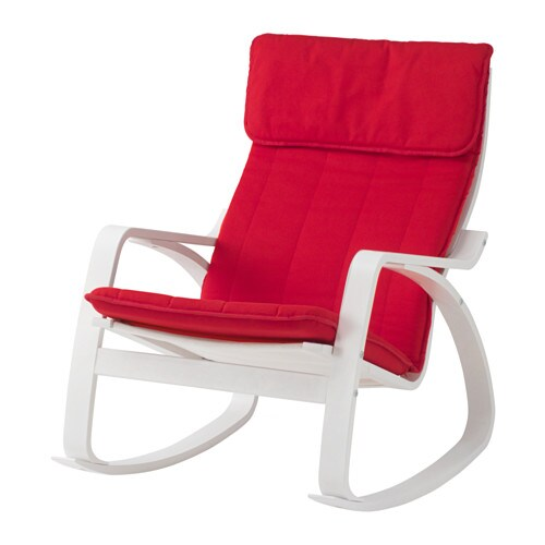 Po ng rocking chair ransta red ikea for Chaise rocking chair ikea