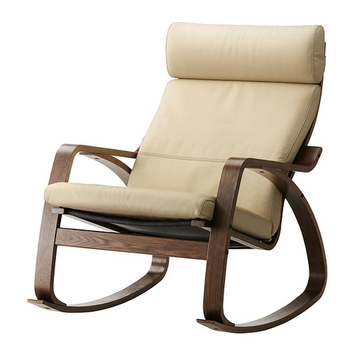 Po ng rocking chair glose eggshell ikea for Chaise rocking chair ikea
