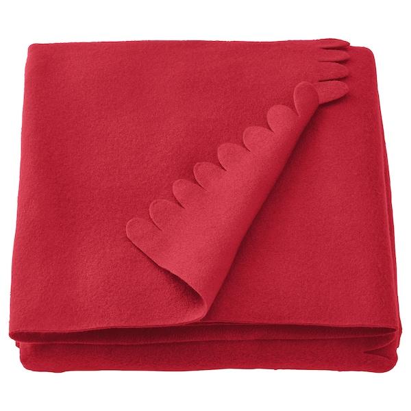 Polarvide Throw Red 130x170 Cm Ikea
