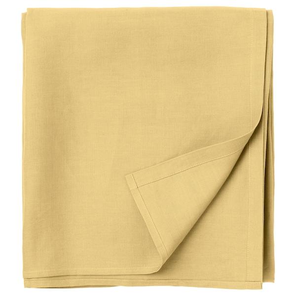 PUDERVIVA Flat sheet, light yellow, Double/Queen
