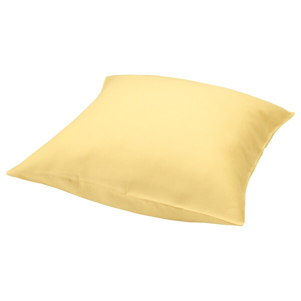 PUDERVIVA Pillowcase, light yellow, 65x65 cm