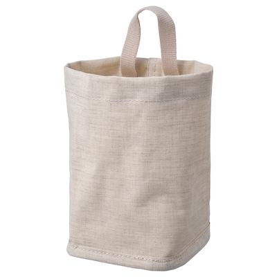 PURRPINGLA Storage basket, textile/beige, 10x10x15 cm