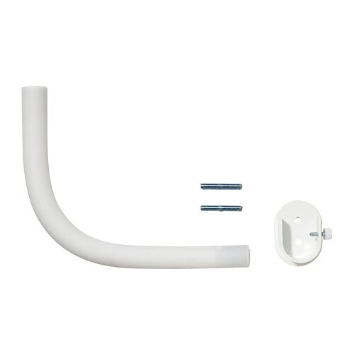 RÄCKA Curtain rod corner connector IKEA Perfect to go around a corner or cover a bay window as it has a flexible gooseneck design.