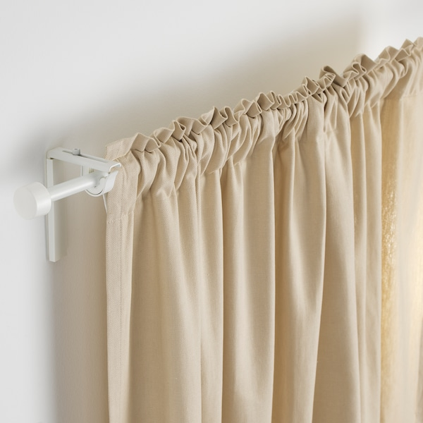 RÄCKA Curtain rod, white, 70-120 cm