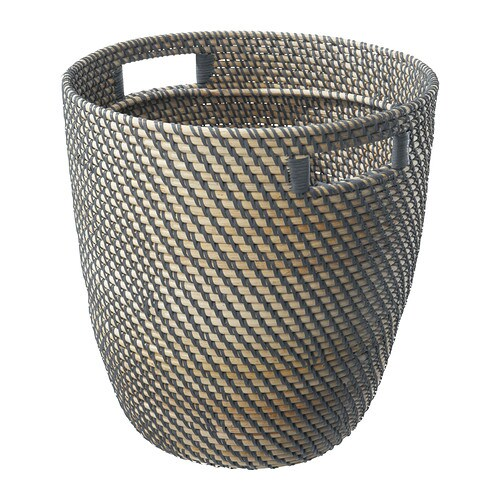 RÅGKORN Plant pot IKEA Plastic inside pot; makes the plant pot waterproof.  With handles for easy mobility.