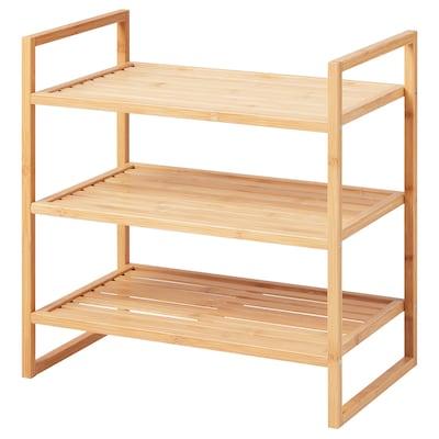 RÅGRUND Shelving unit, bamboo, 50x50 cm