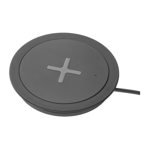 RÄLLEN - Integrated wireless charger, black