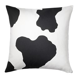 RANVEIG cushion cover, white/black