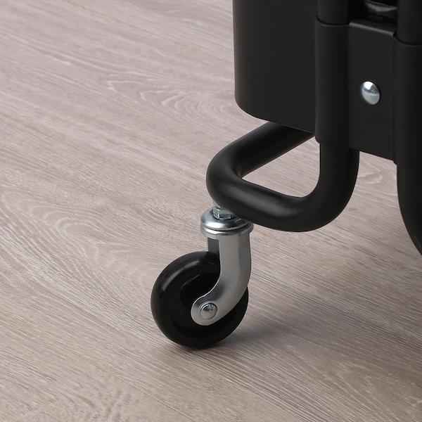 RÅSHULT Trolley, black, 38x28 cm