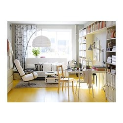REGOLIT Floor lamp, bow, white, black - - - IKEA