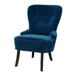 REMSTA armchair, Djuparp dark green-blue