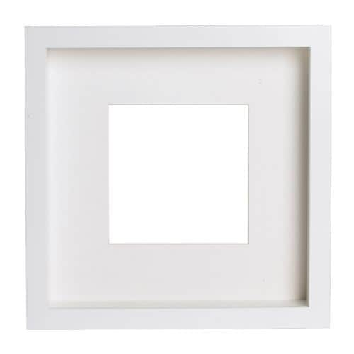 RIBBA Frame IKEA You can place the motif on the front or back of the extra deep frame.  The mount enhances the picture and makes framing easy.