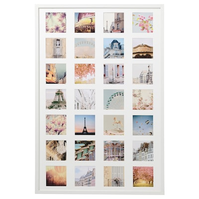 RIBBA Frame with 28 pictures, memories, 61x91 cm