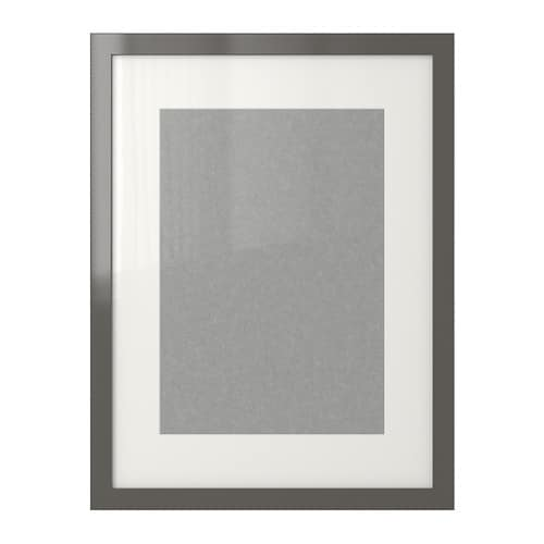 Ribba frame high gloss grey ikea for Ikea frame sizes australia