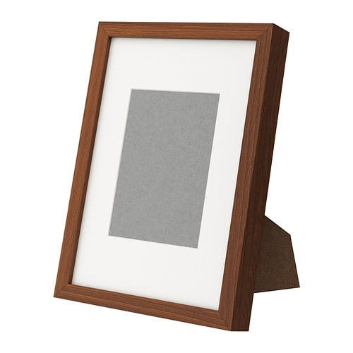 Ribba frame medium brown ikea for Ikea ribba weiay