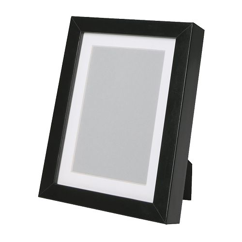RIBBA Frame IKEA Fits A4 size pictures if used without the mount.  The mount enhances the picture and makes framing easy.