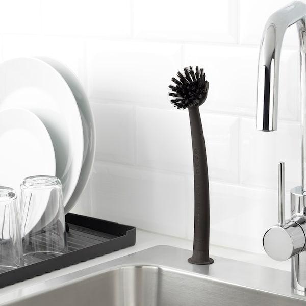 RINNIG Dish-washing brush, grey