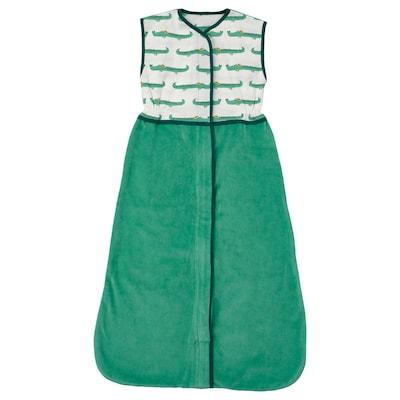 RÖRANDE Sleeping bag, crocodile/green, 84 cm