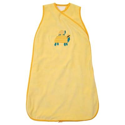 RÖRANDE Sleeping bag, turtle/yellow, 72 cm