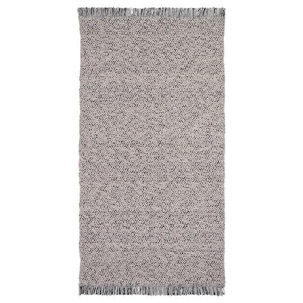 RÖRKÄR rug, flatwoven black/natural 150 cm 80 cm 2 kg 1.20 m² 1900 g/m²