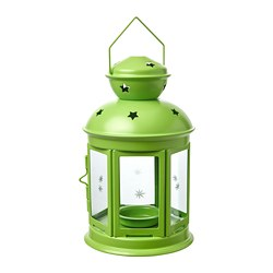 ROTERA lantern for tealight, in/outdoor, light green