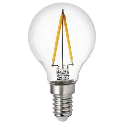 RYET LED bulb E14 100 lumen, globe clear