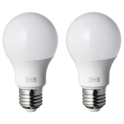 RYET LED bulb E27 806 lumen, globe opal white, 4000 K