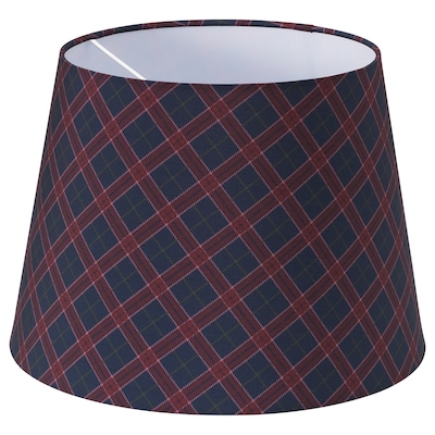 RYRA Lamp shade, check red/blue, 33 cm