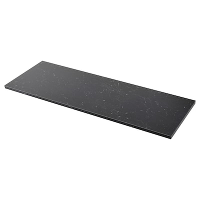 SÄLJAN Worktop, black marble effect/laminate, 186x3.8 cm