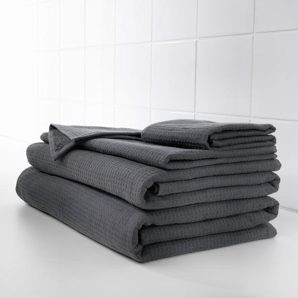 SALVIKEN Bath sheet, anthracite, 100x150 cm