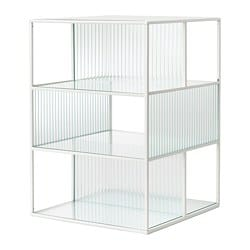 SAMMANHANG display box, white, glass