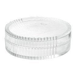 SAMMANHANG glass box with lid, clear glass