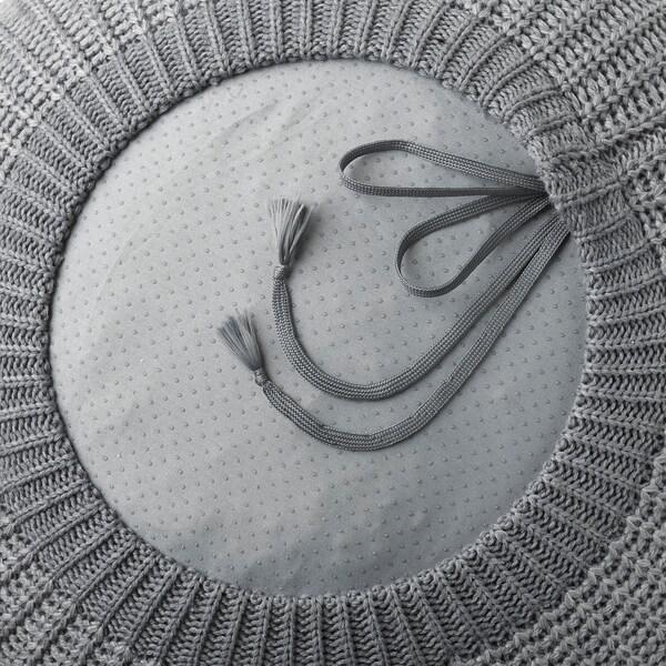 SANDARED pouffe grey 41 cm 56 cm