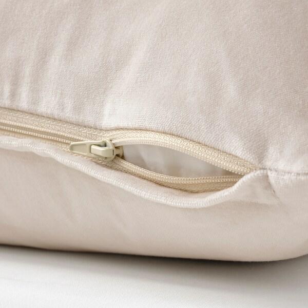 SANELA Cushion cover, light beige, 40x65 cm