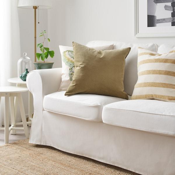 SANELA Cushion cover, light olive-green, 50x50 cm
