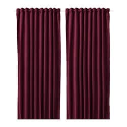 SANELA room darkening curtains, 1 pair, dark red