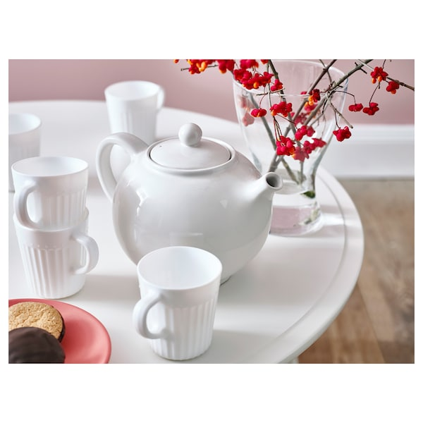 SANNING mug white 9 cm 25 cl