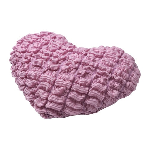 SÅRBAR Cushion IKEA Your child can place this heart-shaped cushion on the bed or a chair to create a unique atmosphere in their room.  Two-sided.