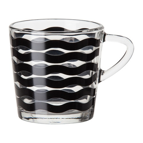 SATSNING Mug IKEA Made of tempered glass, which makes the mug durable and extra resistant to impact.