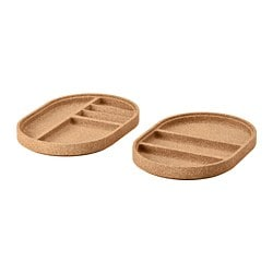 SAXBORGA tray, set of 2, cork