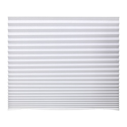 SCHOTTIS Pleated blind IKEA Easy to attach to your window frame.   No drilling needed.  Can be easily cut to the desired size.