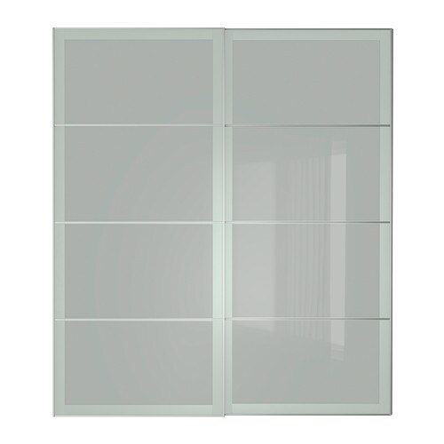 Sekken pair of sliding doors 200x236 cm ikea - Porte de placard coulissante ikea ...
