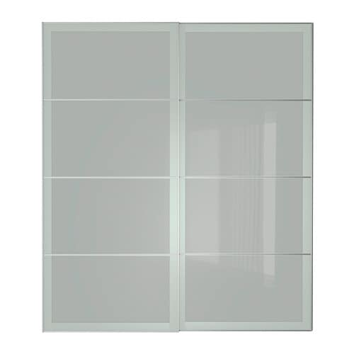 Sekken pair of sliding doors 200x236 cm ikea - Portes coulissantes placard ikea ...
