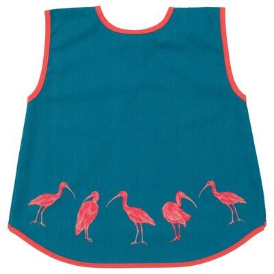 SILVERPOPPEL Children's apron, dark turquoise