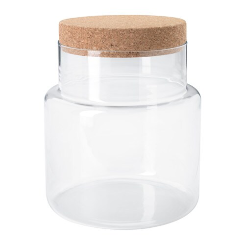 Sinnerlig jar with lid ikea mouth blown by skilled craftspeople
