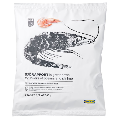 IKEA SJÖRAPPORT Shrimps with shell