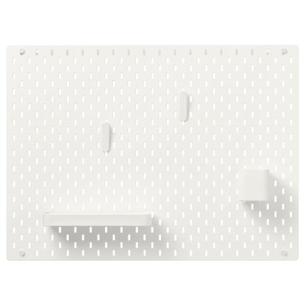 SKÅDIS Pegboard combination, white, 76x56 cm