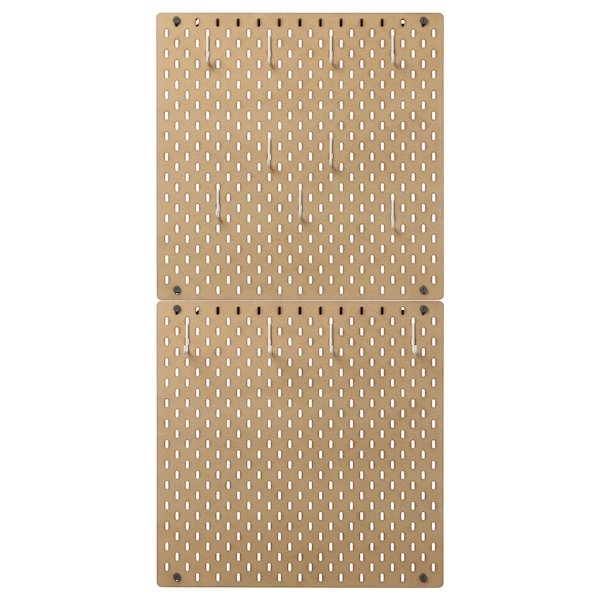 SKÅDIS Pegboard combination, wood, 56x112 cm