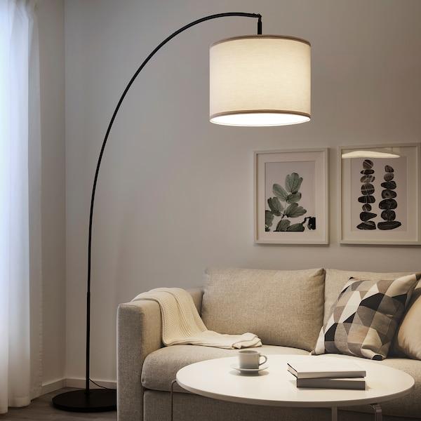 SKAFTET Floor lamp base, arched, black