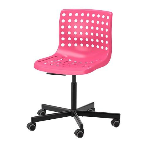 Sk 197 Lberg Sporren Swivel Chair Pink Black Ikea